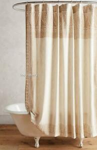NEW Anthropologie Misona Shower Curtain