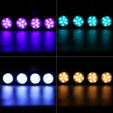 4er RGB LED Unterbauleuchte Unterschrank Schrankleuchten Beleuchtung