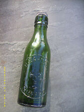 antique green glass English beer bottle S. H. WARD & CO LTD Sheffield