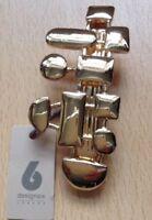 Un Designsix Oro 'Conformazioni' Clip Capelli Barrette Metalliche