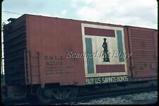 B&LE Bessemer & Lake Erie Box Car #82102 Dayton Sep 72 VINTAGE AGFACHROME SLIDE