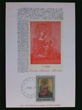 VATICAN MK 1971 MADONNA & JESUS CHRISTUS MAXIMUMKARTE MAXIMUM CARD MC CM c6225