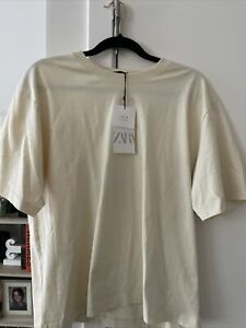 ZARA WOMEN BASIC cotton open back Size LT-shirt -New with tags!
