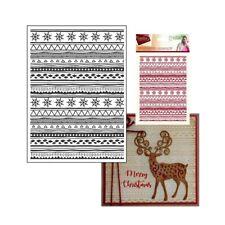 Christmas Embossing Folder Conntemporary Folk Crafter's Companion 5x7 Folders