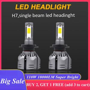 2x H7 Led Headlight Kit 110W 18000LM Hi/Low Beam Vehicle Car Replace Halogen AU