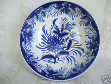 "I. Godinger & Co Porcelain Footed Blue & White Floral 7.5"" Vegetable Bowl"
