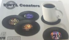 Untersetzer Schallplatte 4 Stück Retro Rock Vinyl Coasters  NEU