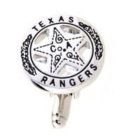 Texas Ranger Star Badge Cufflinks Wedding Groom Dad Gift Box Free Ship USA