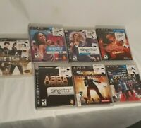 PS3 Lot of 7 Sing Dance Games Disney Sing It Singstar + Def Jam Excellent Discs!
