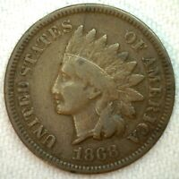 1868 Indian Head Penny One Cent US Coin 1c US Coin Fine