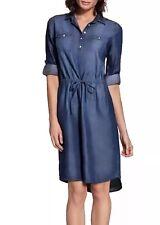 New Gloria Vanderbilt Women's Size Large Denim Ashleigh Dress, Cancun Wash