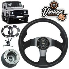 Land Rover Defender Motorsport Leather Steering Wheel 48 Spline Boss Kit Horn