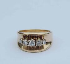Ladies Diamond Cluster Ring w/ 5 Genuine White Dia. 1/3 CTW - 14k Yellow Gold