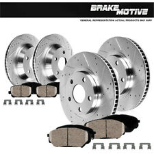 Front+Rear Drill Slot Brake Rotors +Ceramic Pads For 10 - 12 Rdx 07 - 11 CRV