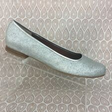 Ros Hommerson Odelle Women's Silver Glitter Flats Size 13SS S223