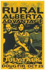 Rural Alberta Advantage 2014 Gig Poster Portland Oregon Concert