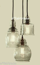 POTTERY BARN Paxton Glass 3-Light Pendant Chandelier, NEW IN BOX