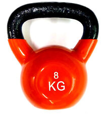 Ironman Colour Vinyl Kettlebell 8kg RED  -  & FREE Postage UK Mainland