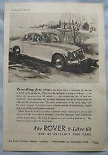 1956 Rover 60 2-litre Original advert