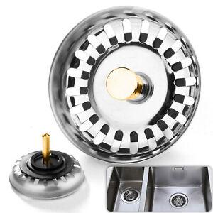 Stainless Steel Replacement Kitchen Sink Drain Strainer Drainer Waste Plug