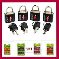4x Korjo TSA Approved Keyed Locks Luggage Suitcase Padlock Travel Lock(4pk)-8key