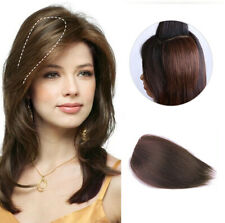One Piece Clips In Remy Human Hair Fringe Side Part Bang Hair Extension Topper