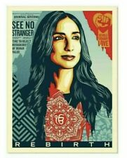 Shepard Fairey Obey Giant 'Rebirth' Print Poster Signed & Numbered #/450 IN HAND