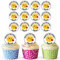 Pre-Cut Emoji caca//Poo-Comestible Cupcake Toppers Anniversaire Décorations de fête