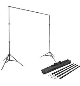 LimoStudio AGG1112 Adjustable Muslin Background Backdrop Support System Stand -