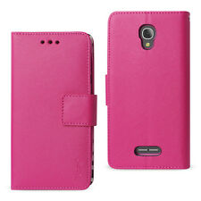 Reiko Alcatel FIERCE 4 Leather-Like 3-in-1 Flip Wallet Case with Folding Stand