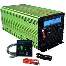 EDECOA 1500W 3000W Pure Sine Power Inverter 12V dc to 110V 120V ac LCD remote
