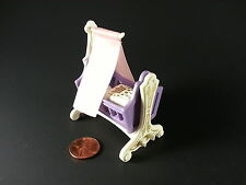 NEW CLOTH PINK CRADLE CANOPY CUSTOM MADE FOR PLAYMOBIL 5311 5313 3835-NO CRADLE