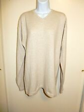MEN'S AUTUMN CASHMERE 100% CASHMERE OATMEAL V-NECK LONG SLEEVES SWEATER M