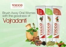 VICCO Vajradanti Ayurvedic Inflammation Wounds Bleeding Toothpaste Vegan