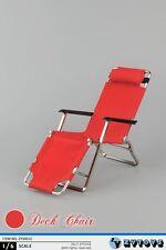ZYTOYS 1/6 ZY3001C Red Folding Chair Beach Chair Deck Chair Toys