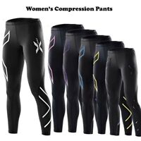 2XU Women Compression Pants Tights Elastic Yoga Pants Fitness Gym Running