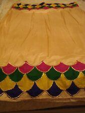 Damas/Niñas Sari de seda pura-frontera hecho a mano en Lucknow