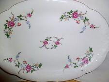 """VTG Royal Kent Poland Porcelain China Oval Serving Platter Bavarian Rose 13"""" X 9"""