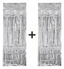 Silver foil party tassel curtain BUY ONE GET ONE FREE