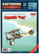 """British WWI Fighter Sopwith """"Pup"""" # Paper Card Model # Scale 1/33 # KK-23"""