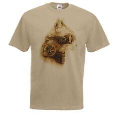 White Regular Size Punk T-Shirts for Men
