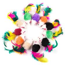 10Pcs/set Colorful Feather Plush False Mouse Pet Cat Toys Mini Fun Playing Toys