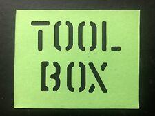 Véhicule militaire armée Tool Box Stencil (1 in (environ 2.54 cm) lettres)