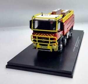 Truck Of Firefighters Mercedes Arocs Ccfs Gallin 13000 Bmpm 1/43 Cover Topcoat