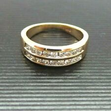 STUNNING 14K YG LADIES DIAMOND BAND RING .50 tcw SZ 5 A14567  4.23 grams