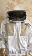 3 Layer Pro Beekeeping Ventilated Bee Suit Jacket/ Round Hood/Metal Zip/ Medium