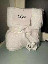 Ugg 100% Organic Cotton Set of 2 Hand Towels 16in x 28in New Nwt