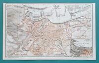 "1934 MAP 6 x 10"" (15 x 25 cm) - ORAN City Plan Algeria Africa"