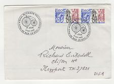 vélocipède France 2 timbres FDC sur lettre 1983 tampon Bar le duc /L654