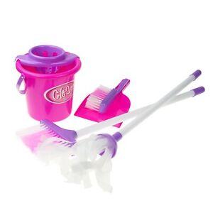 Kinder Putz Reinigungs Set 6-tlg. Eimer Sieb Besen Wischmop Kehrblech